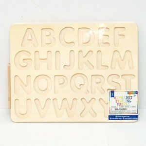 Alphabet Letter Tracing Puzzle Educational